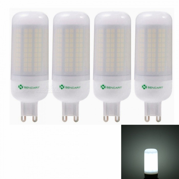 Buy Sencart 4pcs G9 8W 800LM SMD Cool White Energy Saving LED Light Bulb Lamp Matte Shell AC 220-240V with Litecoins with Free Shipping on Gipsybee.com