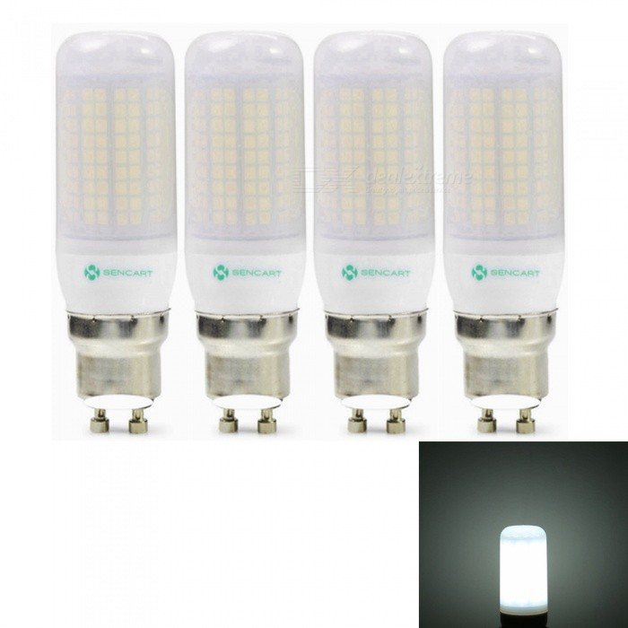 Sencart 4pcs GU10 8W 800LM SMD Cool White Energy Saving LED Light Bulb Lamp Matte Shell AC 220-240VGU10<br>ColorCool WhitePower SupplyAC220-240VModel180 LEDMaterialABS+LED+PCBForm  ColorOthers,MattingQuantity4 piecesPower8WRated VoltageAC 220-240 VConnector TypeGU10Theoretical Lumens1200 lumensActual Lumens800 lumensChip BrandEpistarChip Type2835Emitter TypeOthers,2835SMDTotal Emitters180Color Temperature6500KDimmableNoBeam Angle360 °Packing List4 x LED Light Bulbs<br>