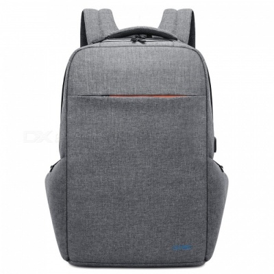 DTBG Water Resistant Large Capacity Business Laptop Backpack with USB Charging Port for 17.3 Inches Laptop - Grey