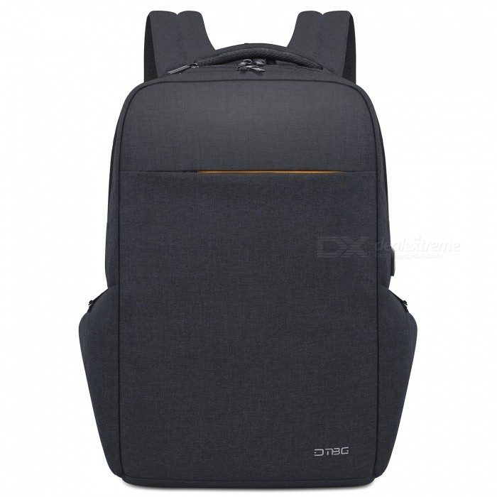 DTBG Water Resistant Large Capacity Business Laptop Backpack with USB Charging Port for 17.3 Inches Laptop - Black