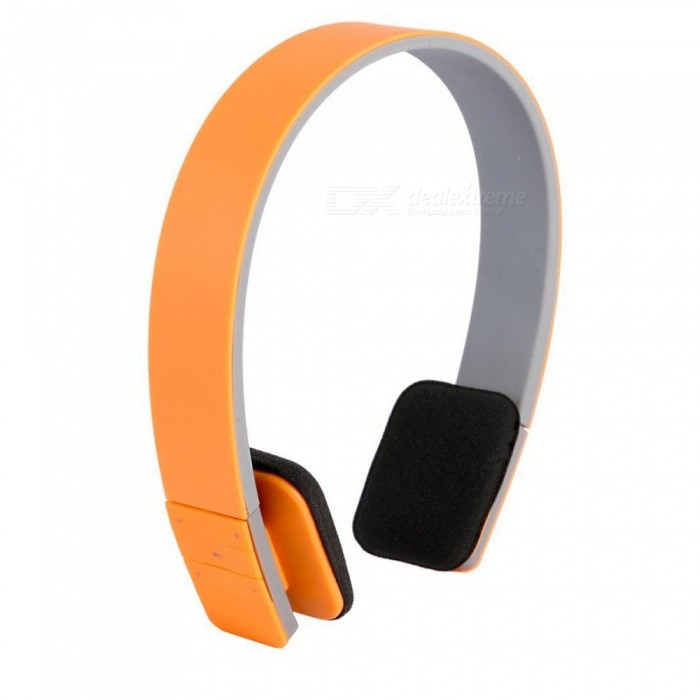 OJADE Wireless Bluetooth V4.1 Headphone, Noise Canceling Portable Stereo Headset with MicrophoneHeadphones<br>ColorOrangeBrandOthers,OJADEMaterialABSQuantity1 DX.PCM.Model.AttributeModel.UnitConnectionBluetoothBluetooth VersionBluetooth V4.1Headphone StyleHeadbandWaterproof LevelOthersApplicable ProductsUniversalHeadphone FeaturesLong Time Standby,Volume Control,With Microphone,PortableSupport Memory CardNoSupport Apt-XYesPacking List1 x Bluetooth stereo headset<br>