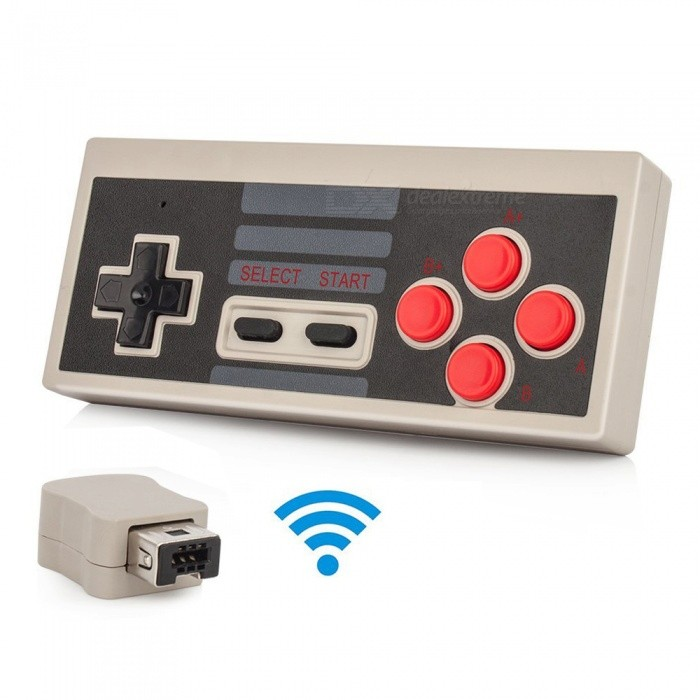 Kitbon 2.4G Wireless Controller Console Gamepad for Nintendo NES Classic Mini EditionOther Consoles Accessories<br>ColorGrey + BlackQuantity1 setMaterialABSCompatible BrandNintendoCompatible ModelsNES Classic Mini;<br>NES Classic EditionPacking List1 x Controller1 x Receiver<br>