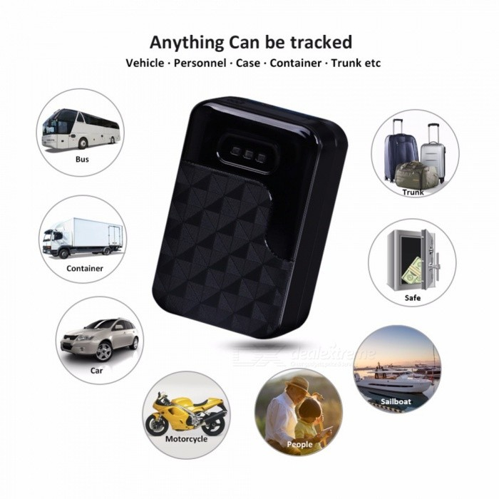 G200 GPS Tracker Magnetic Waterproof GSM GPS Locator Anti-Theft TrackingVehicle Tracking Systems<br>ColorBlackModelG200Quantity1 setMaterialABSNetworkGSM,GPRSBand850MHz,900MHz,1800MHz,1900MHzSIM Card Qty.one SIMSupported LanguagesOthers,EnglishGPS Channel20Position Accuracy5-10MHot Startup Time1 sWarm Startup Time3 sCold Startup Time38 sGeo-fenceYesVibrating AlertsYesRemote MonitoringYesEngine Cut OffYesRealtime MonitoringYesTrack PlaybackYesPacking List1 x Tracker Device1 x USB cable1 x User Manual<br>