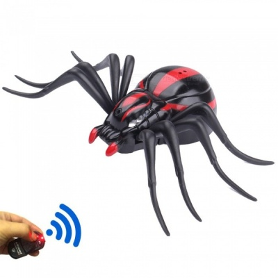 Infrared Simulation Remote Control Spider Black Widow Toy, Animal Xmas Trick Terrifying Toy for Kids
