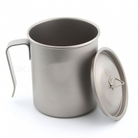 Ti3264-Ultralight-Titanium-Camping-Cup-with-Handle-450ML-Single-Layer-Cup