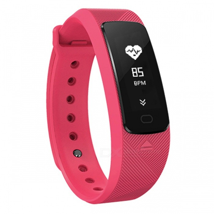 SMA B2 USB Charging Smart Watch Bracelet with Hear Rate Monitor - Deep PinkSmart Bracelets<br>ColorDeep PinkModelB2Quantity1 setMaterialTPUWater-proofIP67Bluetooth VersionBluetooth V4.0Touch Screen TypeAMOLEDOperating SystemAndroid 4.4,Android 4.4.1,Android 4.4.2,iOSCompatible OSAndroid 4.3 / iOS 8.0 and above systemsBattery Capacity80 mAhBattery TypeLi-polymer batteryStandby Time300 hoursPacking List1 x Smart Watch1 x Charging Cable1 x English User Manual<br>