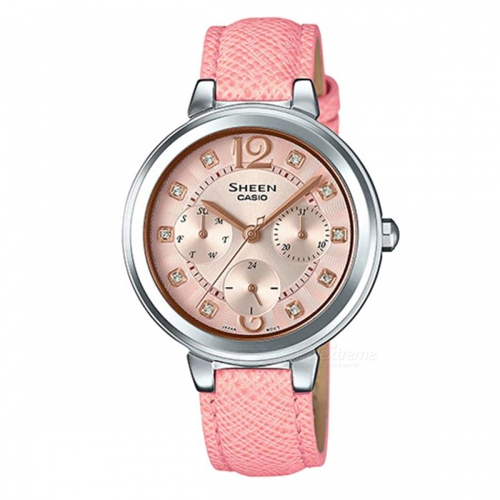 Casio-SHE-3048L-4A-Color-Series-Watch-Pink-Gradation