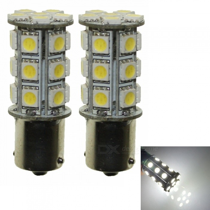 Buy Sencart 2Pcs Ba15s 1156 1141 24-5050SMD White High Bright Car LED Bulbs, DC 12V with Litecoins with Free Shipping on Gipsybee.com