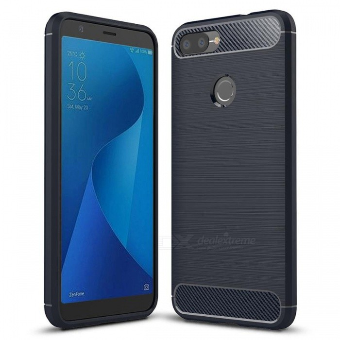 Naxtop Wire Drawing Carbon Fiber Textured TPU Brushed Finish Soft Phone Back Cover Case for Asus Zenfone Max Plus (M1)TPU Cases<br>ColorBlueModelN/AMaterialTPUQuantity1 pieceShade Of ColorBlueCompatible ModelsAsus Zenfone Max Plus (M1)Packing List1 x Case<br>