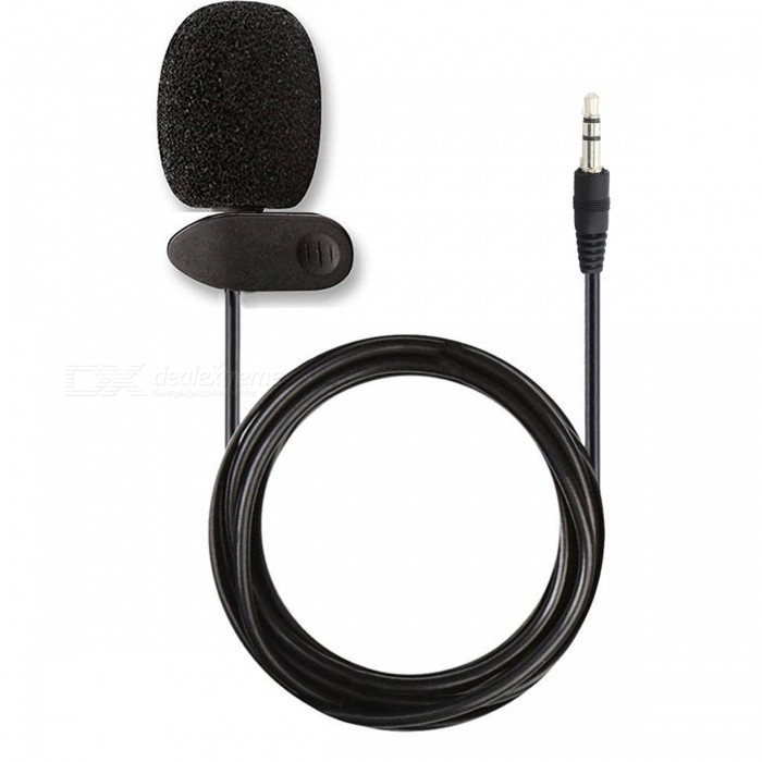 Kitbon 3.5mm Small Wired Lavalier Lapel Omnidirectional Condenser Microphone w/ ClipMicrophones<br>ColorBlackQuantity1 pieceShade Of ColorBlackMaterialPlasticInterface3.5mmPowered ByOthers,N/AMicrophone Frequency Response50Hz-20KHzSensitivity-58dB±3dBMic Polar PatternsOmnidirectionalImpedance2.2K ohmPacking List1 x Microphone<br>