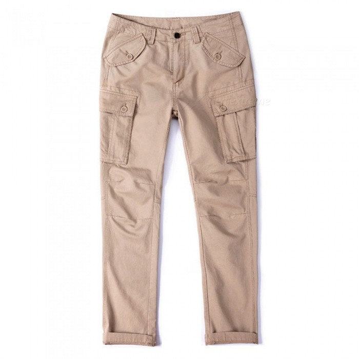 CTSmart 1683 Spring Summer Mens Solid Color Cotton Slim Straight Pants Trousers - Khaki (33)Pants and Shorts<br>ColorkhakiSize33Model1683Quantity1 pieceShade Of ColorBrownMaterialCottonStyleSportsWaist Girth85 cmInseam80 cmHip Girth111 cmTotal Length82 cmPacking List1 x Pants<br>