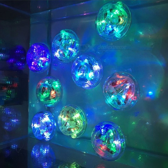 Color Changed Bathroom underwater LED Pond Pool Spa Light Waterproof Bath Tub Kids Toy Funny Shower Flashing Floating Nightlight colourful