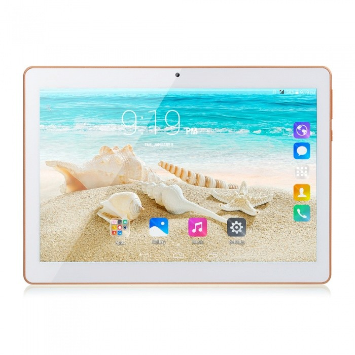 10 Inches Android 7.0 Tablet PC MTK8752 Octa-Core 1GB RAM 16GB ROM GPS 3G 10quot 1280 x 800p IPS Screen Tablet White/16GB Add Case