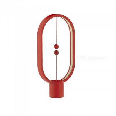 P-TOP Balance Magnetic Suction Switch LED Table Lamp Round Desk Light for Living Room Bedroom Bedside Reading Light - Red