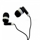 OJADE Portable Noise Reduction In-Ear Wired Earphone for IPOD / Phone / MP3 Player - Black