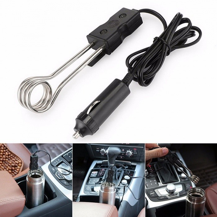 Car Styling Mini Portable Outdoor Travelling Immersion Heater Tea Coffee Water Auto Electric