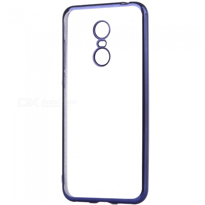ASLING Electroplating TPU Soft Cover Protector, Transparent Back Case for Xiaomi Redmi 5 Plus