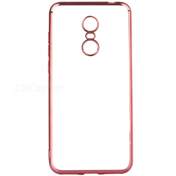 ASLING Electroplating TPU Soft Cover Protector, Transparent Back Case for Xiaomi Redmi 5 Plus - Rose GoldTPU Cases<br>ColorRose GoldModelASL-Redmi 5 PlusMaterialTPUQuantity1 pieceShade Of ColorGoldCompatible ModelsRedmi 5 PlusPacking List1 x Protective Case<br>