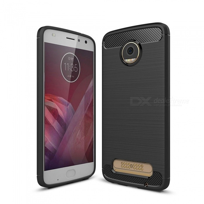 Naxtop Wire Drawing Carbon Fiber Textured TPU Brushed Finish Soft Phone Back Cover Case For Moto Z2 PlayTPU Cases<br>ColorBlackModelN/AMaterialTPUQuantity1 pieceShade Of ColorBlackCompatible ModelsMoto Z2 PlayPacking List1 x Case<br>
