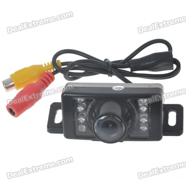 E350 Vehicle Rear Sight Video Camera w/ 7-LED Night Vision - Black