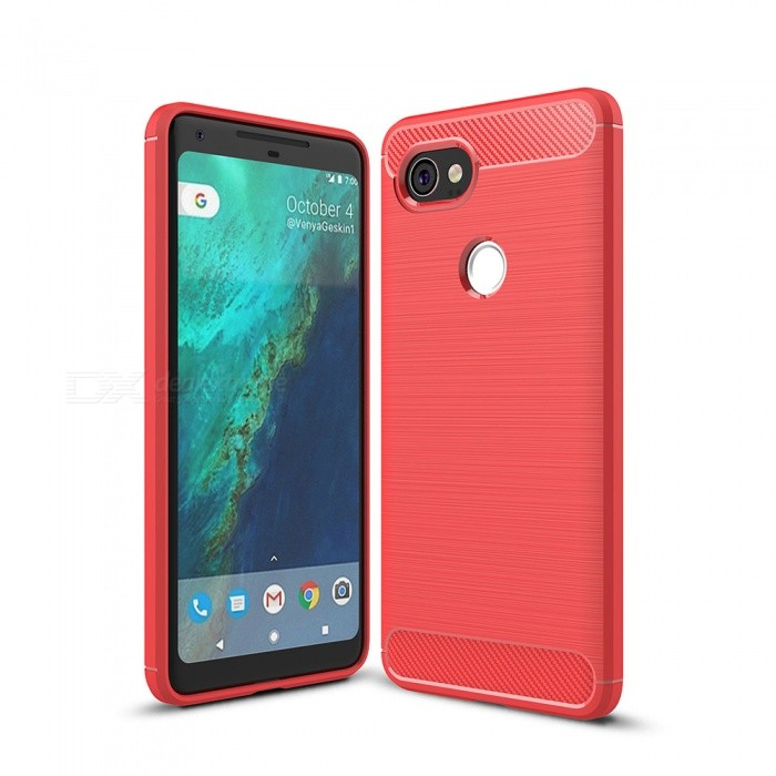 Naxtop Wire Drawing Carbon Fiber Textured TPU Brushed Finish Soft Phone Back Cover Case For Google Pixel 2 XLTPU Cases<br>ColorRedModelN/AMaterialTPUQuantity1 pieceShade Of ColorRedCompatible ModelsGoogle Pixel 2 XLPacking List1 x Case<br>