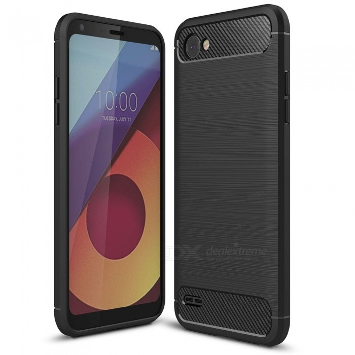 Naxtop Wire Drawing Carbon Fiber Textured TPU Brushed Finish Soft Phone Back Cover Case For LG Q6TPU Cases<br>ColorBlackModelN/AMaterialTPUQuantity1 pieceShade Of ColorBlackCompatible ModelsLG Q6Packing List1 x Case<br>