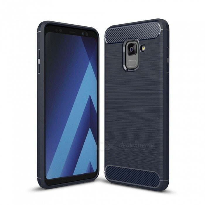 Naxtop Wire Drawing Carbon Fiber Textured TPU Brushed Finish Soft Phone Back Cover Case For Samsung Galaxy A8 (2018)TPU Cases<br>ColorBlueModelN/AQuantity1 pieceShade Of ColorBlueCompatible ModelsSamsung Galaxy A8 (2018)DesignSolid ColorStyleBack CasesPacking List1 x Case<br>