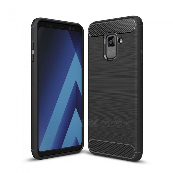 Naxtop Wire Drawing Carbon Fiber Textured TPU Brushed Finish Soft Phone Back Cover Case For Samsung Galaxy A8+ (2018)TPU Cases<br>ColorBlack for Samsung Galaxy A8+ (2018)ModelN/AQuantity1 pieceShade Of ColorBlackCompatible ModelsSamsung Galaxy A8+ (2018)DesignSolid ColorStyleBack CasesPacking List1 x Case<br>