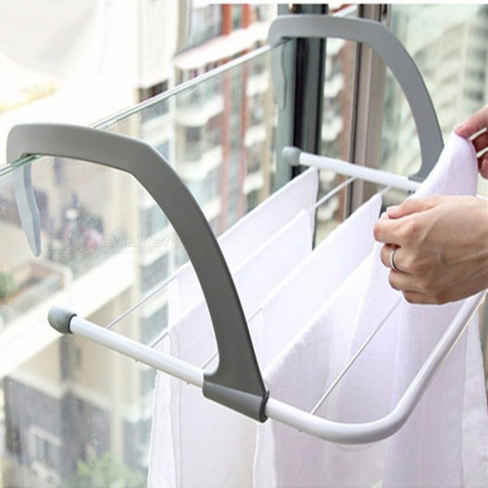 Buy Outdoor Folding Rack For Clothes Towel Dryer Rack Hanger Shelf Drying Storage Radiator 2016 Metal Hook Large Clip Hot ButiHome M with Litecoins with Free Shipping on Gipsybee.com