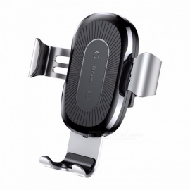 Baseus Car Mount Qi Wireless Charger For iPhone X 8 Plus Quick Charge Fast Wireless Charging Pad Car Holder Stand For Samsung S8 Silver