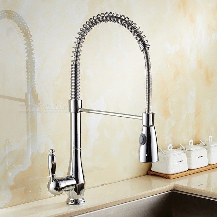 Contemporary-Brass-Chrome-360-Degree-Rotatable-Ceramic-Valve-Single-Handle-One-Hole-Kitchen-Faucet