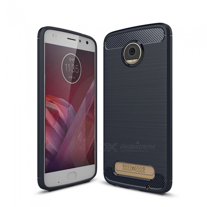 Naxtop Wire Drawing Carbon Fiber Textured TPU Brushed Finish Soft Phone Back Cover Case For Moto Z PlayTPU Cases<br>ColorBlueModelN/AMaterialTPUQuantity1 pieceShade Of ColorBlueCompatible ModelsMoto Z PlayPacking List1 x Case<br>