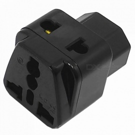 250V / 10A PDU IEC320 C14 Power Socket To AU Plug / US Plug / EU Plug / UK Plug - Black