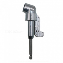 """ZHAOYAO 105 Degree Head Angle Drill Extension Handle Screwdriver, Magnetic 1/4"""" Adjustable Allen Wrench with Long Handle"""