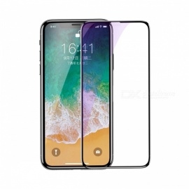 Baseus Tempered Glass Screen Protector 4D Surface Full Coverage Glass For IPHONE X Black
