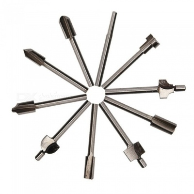 ZHAOYAO 10Pcs High-Speed Steel Titanium Router Cutter Bits for Wood Cutting, Machine Milling