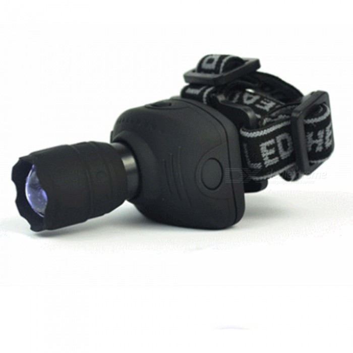 Outdoor Super Bright Zooming Long-Range LED Headlight Searchlight for Night Fishing Hunting RidingHeadlamps<br>ColorBlackModelHighlight zoom LED searchlightQuantity1 setMaterialPVCEmitter BrandOthers,NeutralLED TypeMC-EEmitter BINothers,LED lamp beadsColor BINWhiteNumber of Emitters1Working Voltage   4.5 VPower SupplyNumber 7Current200 mAActual Lumens- lumensRuntime- hourNumber of Modes2Mode ArrangementHi,MidMode MemoryNoSwitch TypeReverse clickySwitch LocationHeadLensGlassReflectorAluminum TexturedBand Length40 cmCompatible CircumferenceUniversalBeam Range10 mPacking List1 x Long shot headamp<br>
