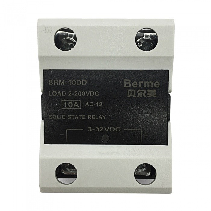 BEM-10DD 3-32V DC to 2-220V DC 10A Single Phase Solid State DC-DC RelayDIY Parts &amp; Components<br>Rated Current10AModelBEM-10DDQuantity1 pieceMaterialPlastic,MetalEnglish Manual / SpecNoCertificationISO9001Packing List1 x BEM-10DD  Solid State Relay.<br>