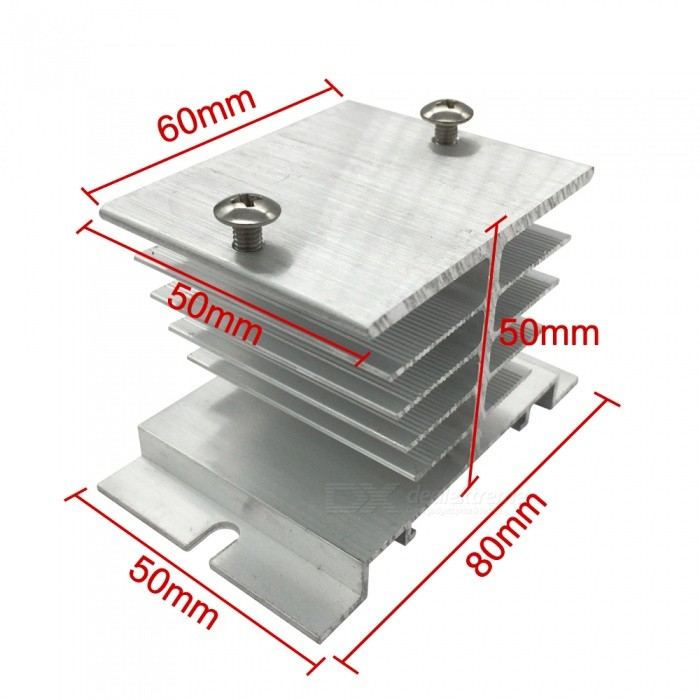 Aluminum Heat Sink for Solid State Relay SSR Heat Dissipation - WhiteDIY Parts &amp; Components<br>ColorWhiteModelBEMQuantity1 pieceMaterialAluminumEnglish Manual / SpecNoCertificationISO9001Packing List1 x Aluminum Heat Sink<br>