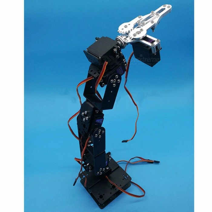 Buy DIY 6 DOF 3D Rotating Metal Mechanical Manipulator Robot Arm Kit, Smart Car Arduino Robot Parts Teaching Platform Without Servos with Litecoins with Free Shipping on Gipsybee.com