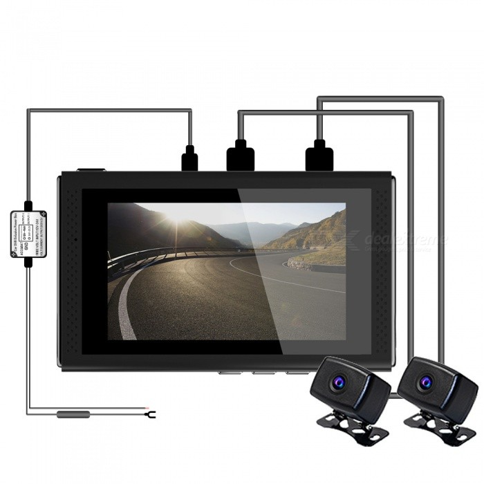 S10 1080P NT96663+322 Motocycle Wi-Fi Recorder Camera with 3.0 inches LCD Screen - Black