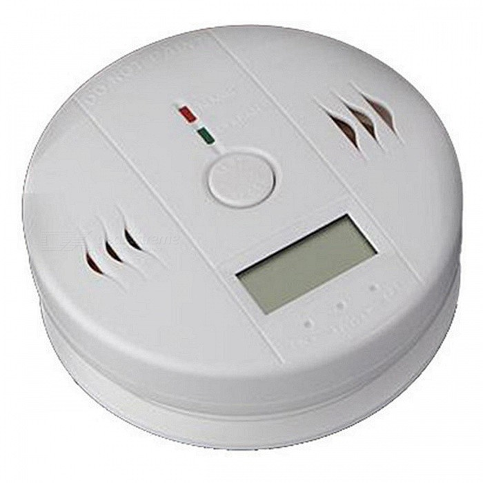 DC 4.5V Carbon Monoxide Alarm System (No Battery)Alarm Systems<br>Form  ColorWhitePower AdapterWithout Power AdapterForm  ColorWhitePower Adapter3 x AA Battery (Not Included)MaterialPlasticQuantity1 setPacking List1 x Alarm1 x Manual1 x Screw package<br>