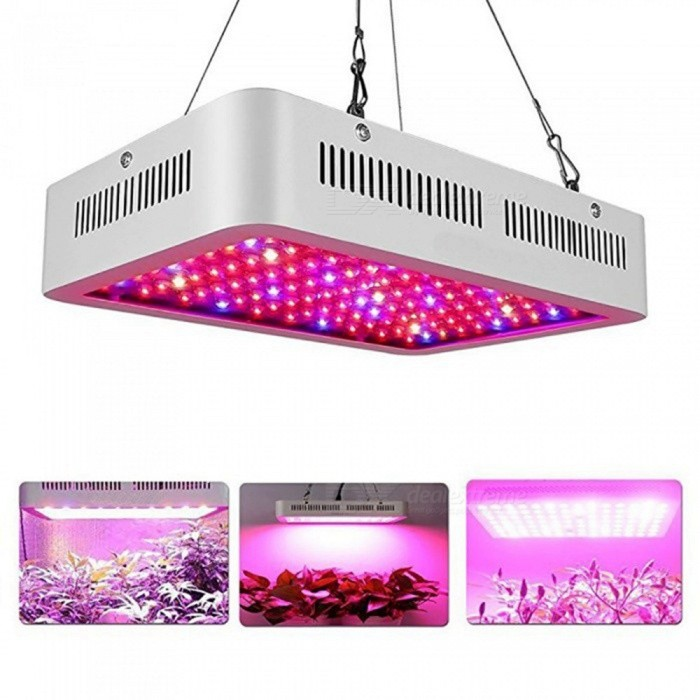 AIBBER TONE 1500W Double Chips Indoor LED Plant Grow Light Kit, Full Specturm for Greenhouse and Indoor Plant FloweringColor1500W, RGBMaterialMetalQuantity1 setPowerOthers,1500WRated VoltageAC 100-240 VEmitter TypeLEDTotal Emitters100Color BINRGBTheoretical Lumens1200 lumensActual Lumens1200 lumensColor Temperature7500KDimmableYesWavelength620-630rmPacking List1 x Charging line1 x LED Grow Light Kit1 x Steal Hanger Rope<br>