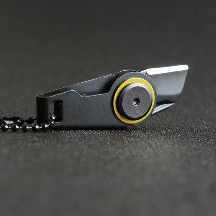 Mini Pocket-Size Zipper Knife for Outdoor Survival, EDC Gadget Key Chain Pendant