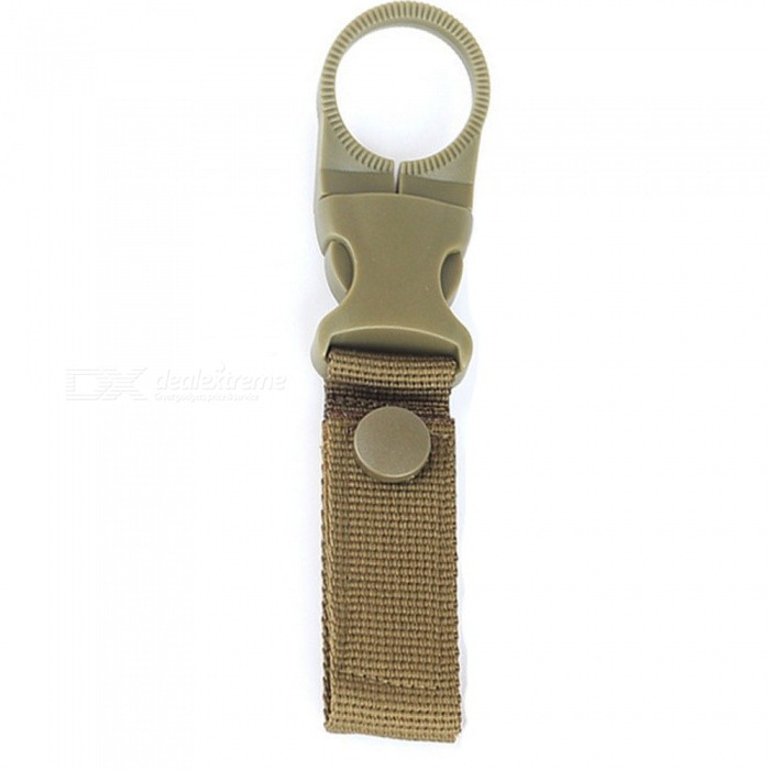 Outdoor Military Tactical Nylon Strap, Water Bottle Hanging Carabiner Buckle - Army GreenColorArmy GreenModelWater bottle hanging buckleQuantity1 setMaterialDouble 2.5 polypropylene ribbon + high toughness PA material buckleTypeTactical molle ribbon level buckleSizeLong) 15.3 ? (wide) 2.5cmMax. PullTactical molle ribbon level buckleFeaturesArmy fan tactical nylon ribbon bottle buckleApplicationTactical molle ribbon level bucklePacking List1 x Army fan tactical nylon ribbon bottle buckle<br>