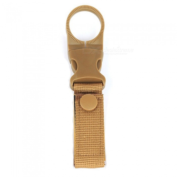 Outdoor Military Tactical Nylon Strap, Water Bottle Hanging Carabiner Buckle