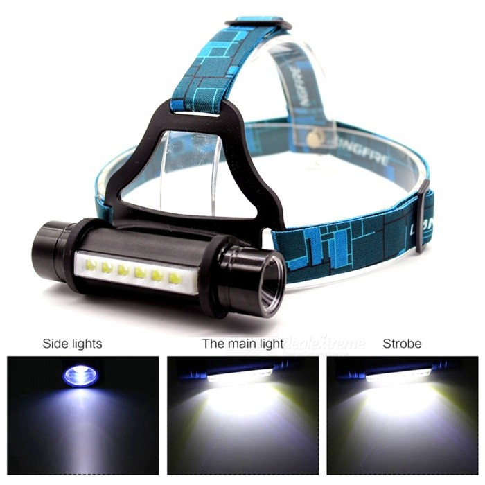 AIBBER TONE 6 LED + CREE Q5 Outdoor Camping Headlamp Waterproof 3 Modes Head Band Lamp Flashlight 18650 Head Lamp Light For Camp