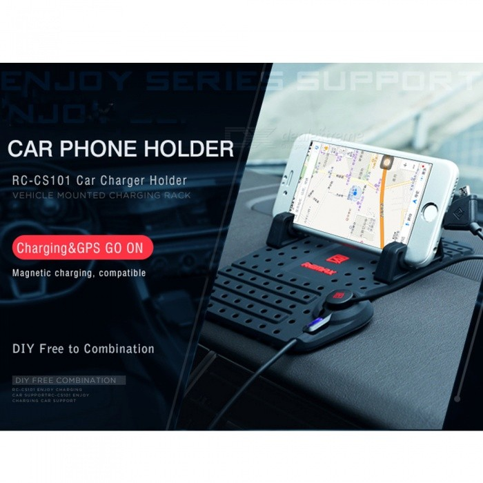 ... Car Mobile Phone Holder Adjustable Bracket GPS Charging Dashboard Holder with Magnetic USB Data Cable for ...