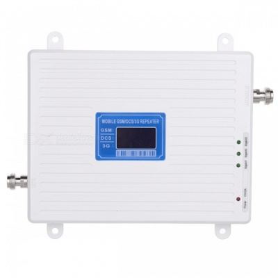 3G 4G 900/1800/2100MHz GSM DCS WCDMA Signal Booster Kit for Cellphone - US Plug