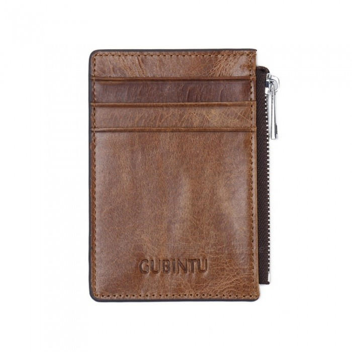 GUBINTU Mens Stylish PU Leather Wallet with Card Holder - CoffeeWallets and Purses<br>ColorCoffeeModel420Quantity1 pieceShade Of ColorBrownMaterialLeatherGenderMenSuitable forAdultsOpeningZipperStyleFashionWallet Dimensions11.5*8.5*0.3Packing List1 x Wallet<br>